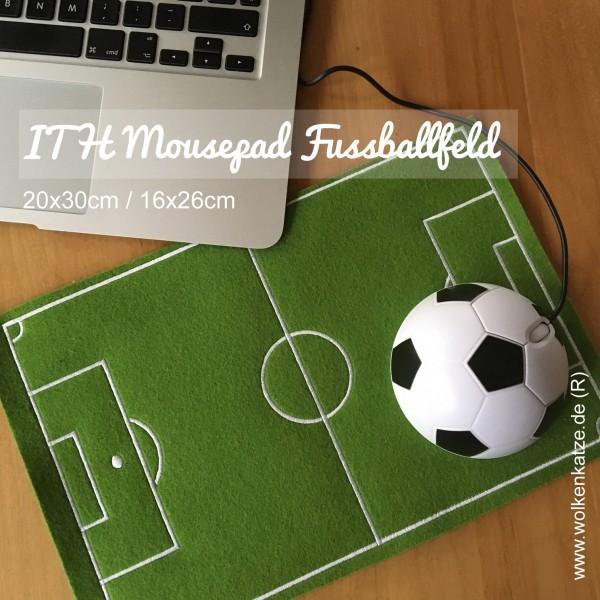 Fussballfeld Mousepad ITH Stickdatei